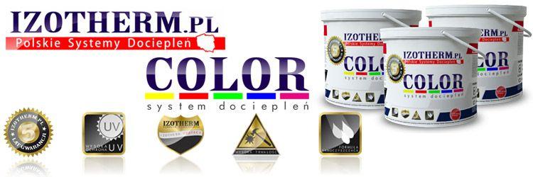 Izotherm System dociepleń Color System - styropian - klej do styropianu - klej do siatki - tynki